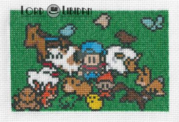 Harvest Moon Family Cross Stitch by LordLibidan