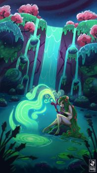 the song of the nymph by MichelVerdu