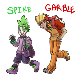 Human Spike And Garble by Ominous-Artist