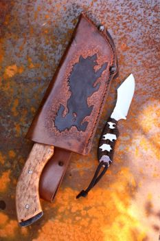Camp knife with sheath and neck knife by Corebak