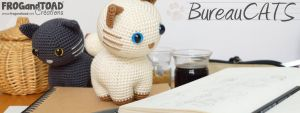 BureauCATS - Amigurumi - FROGandTOAD Creations by FROG-and-TOAD