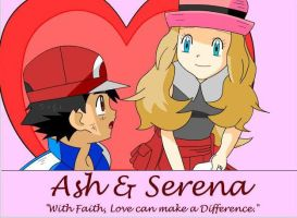 Ash and Serena (Amourshipping) #1 by PhoenyxuzPrimax