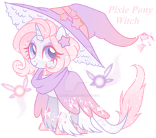 Pixie Pony Witch Adoption - PayPal Only *CLOSED* by MagicDarkArt