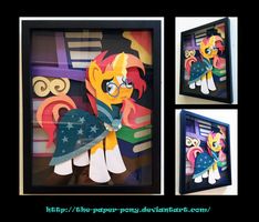11x14 Sunburst Shadowbox by The-Paper-Pony