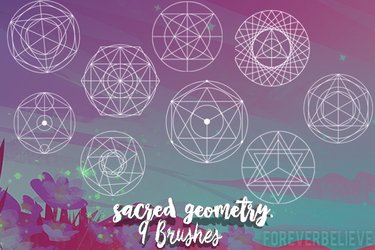 Sacred geometry-Brushes by ForEverBelieve