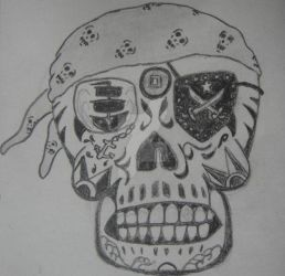 Pirate Skull B by NocturnalHouse