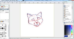 WIP Cat face GIMP by IvypoolForever
