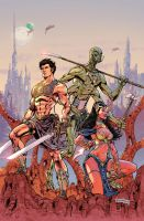 John Carter : Warlord Of Mars # 1 Variant cover 2 by NeerajMenon