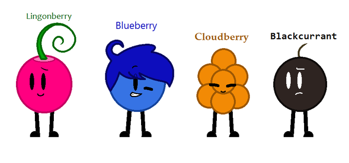 New oc: four berries by SkyMeowCute