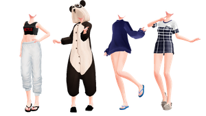 ||MMD|| Pajama Outfits DL || by NekoMMD24