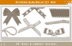 Brushset 11: Bows'n'Ribbons by Ruthenia-Alba
