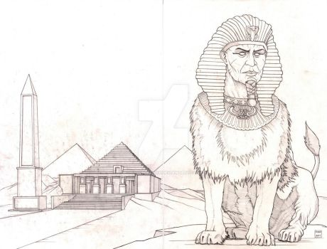 Sphinx in the Valley of Kings by Jason-Lenox