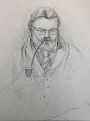 Figure Drawing | The Pastor by adammiconi