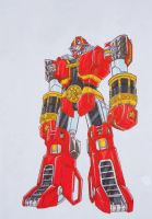 RED BATTLEZORD revisited by kishiaku