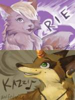 CG1 - Rie and Kazzi by wolfie-janice