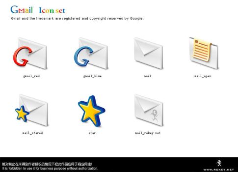 Gmail iconset by Rokey