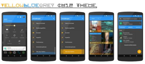 YellowBlueGrey cm12 Theme by Fard44