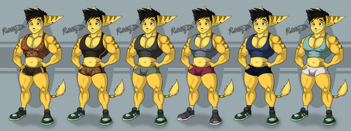 Spike Gym Outfit Alternate colors by RatchetJak
