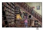 Cash only Dead Hand Used Bookstore Color by AmeliaPenDraws