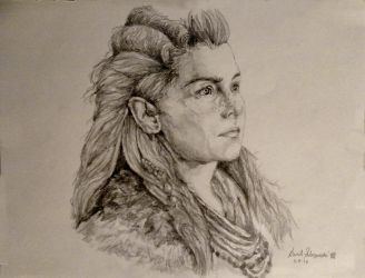 Aloy - Horizon Zero Dawn (Pencil Portrait) by davidsobo