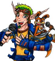 Karaoke Jak and Daxter - color by Alandra-Noir