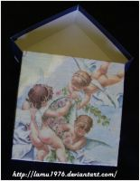 Box with angels decoupage by lamu1976