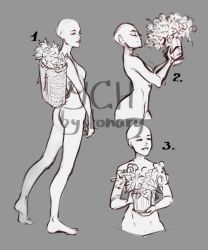 [Close] YCH Auction: flower girls by Lonary