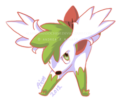 Shaymin Sky Form by AxMongrel