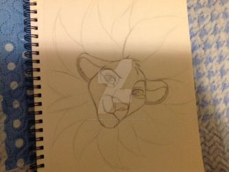 Cub Simba Sketch by Namirithecheepard123