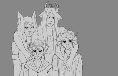 Scubahound family picture by Qu-Ross