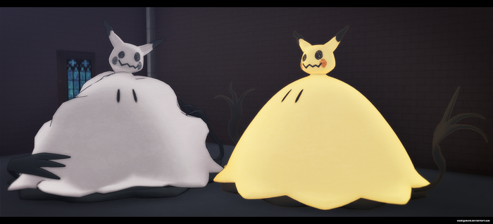 MMD Pokemon: Let's Snuggle Forever Mimikyu by kaahgomedl