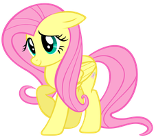 Fluttershy (Looking particularly shy) by DrFatalChunk