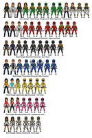 Mighty Morphin Power Rangers by dudebrah