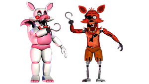 Foxy and Funtime/Toy Foxy by Bantranic