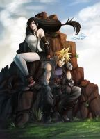 Tifa and Cloud by MCAshe