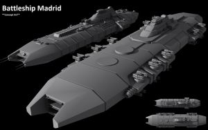Battleship Madrid - 1. concept by Lc4Hunter