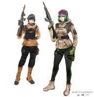 Ela and Zofia by moonmossi