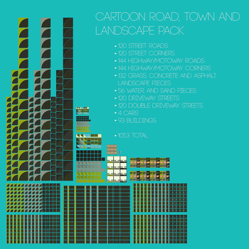 Cartoon Roads, Town and Landscape Pack! by blenderednelb