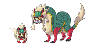 Chinese Fakemon (v2) Colo by AlphaXXI by OswaldLunaire