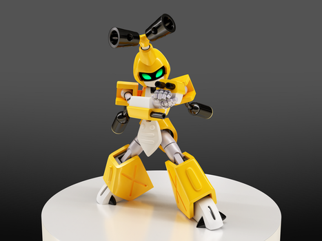 Attack Mode, Metabee! by ManMadeOfGold
