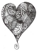 1st Heart Zentangle by Heidipickels