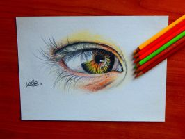 How to draw an eye | drawing video link bellow by Unfor-street-arT