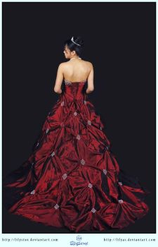 Red Dress Ball Gown by LilyStox
