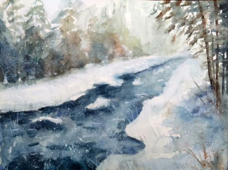 Winter River by Kotwinka