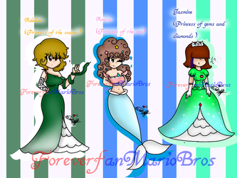 -Princesses of my Au part 1 (read description)- by ForeverfanMarioBros