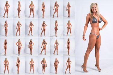 Stock: Sarah Fitness Figure Poses - 25 Images by stockphotosource