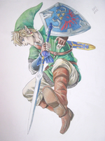 Link Downward Sword Attack! by VKliza