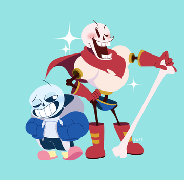 sans and papyrus by tabe103