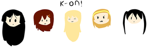 K-on! Heads  by zencat61