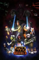 Star Wars Rebels Season 2: Retro Poster by Mono-Owl